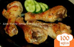 Фото рецепта: «Запеченные в кефире куриные голени (диета Дюкана)»