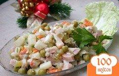 """Фото рецепта: «Салат """"Оливье"""" с копченой курицей»"""