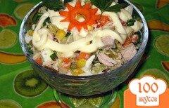 """Фото рецепта: «Салат """"Оливье"""" с кукурузой»"""
