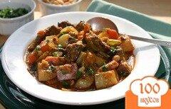 Фото рецепта: Говядина с овощами на сковороде