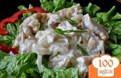 Фото рецепта: «Бефстроганов из кальмаров»