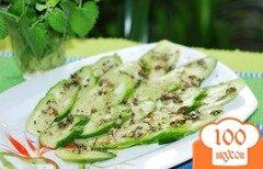 Фото рецепта: «Салат из огурцов с мятой.»