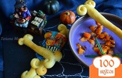 Фото рецепта: «Суп-пюре из красной капусты с кусочками тыквы»