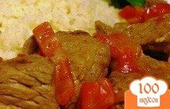Фото рецепта: «Телятина с болгарским перцем»