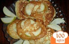 Фото рецепта: «Оладьи с кусочками груши»