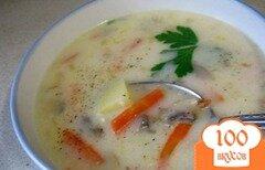 Фото рецепта: «Суп с грибами шампиньонами»