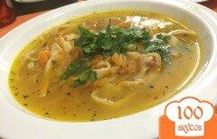 Фото рецепта: «Куриный суп с домашней лапшой»