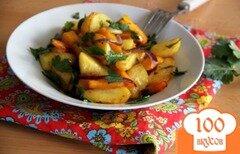 Фото рецепта: «Картофельно-тыквенный гарнир»