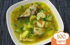 Фото рецепта: «Суп с галушками и куриными крылышками»