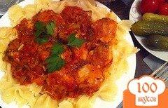 Фото рецепта: «Куриные тефтели с томатным соусом»