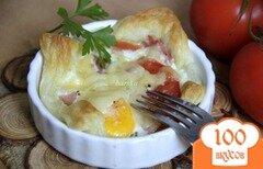 """Фото рецепта: «Завтрак в """"слойке""""»"""