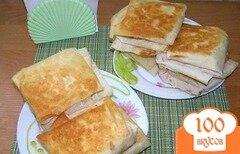 Фото рецепта: «Горячие бутерброды из лаваша»