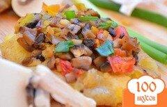 Фото рецепта: «Картошка по-деревенски с грибами»