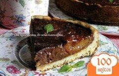 Фото рецепта: «Лимонно-шоколадный тарт со сливами»