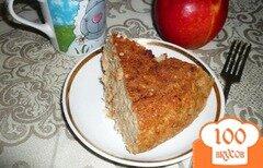 Фото рецепта: «Овсяная запеканка с яблоками»