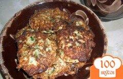 Фото рецепта: «Кабачковые оладьи с зеленью»