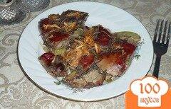 Фото рецепта: «Печень с кабачками и яблоком»