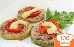 Фото рецепта: «Бутерброды из кабачков в духовке»