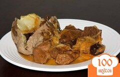 Фото рецепта: «Тушеная свинина на сковороде»
