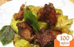Фото рецепта: «Телятина с кабачками»