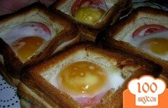 Фото рецепта: «Бутерброды с яйцом и колбасой»