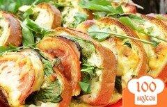 Фото рецепта: «Бутерброды с баклажанами и помидором»