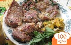 Фото рецепта: «Свиная шейка на сковороде»