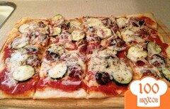 Фото рецепта: «Пицца с фрикадельками и цуккини»