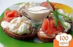 Фото рецепта: «Бутерброды с яйцами пашот и лососем»