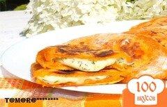 Фото рецепта: «Томатные лепешки с сыром»
