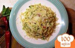 Фото рецепта: «Паста с соусом из кабачков, чили и мяты»