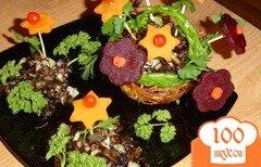 """Фото рецепта: «Грибное рагу c вареными овощами """"На цветочной поляне""""»"""