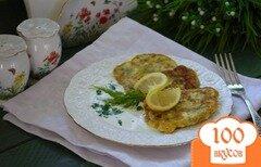 Фото рецепта: «Оладушки с брынзой и зеленью»