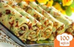 Фото рецепта: «Сырные блины с зеленью»