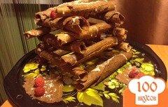 Фото рецепта: «Вафли с шоколадом и малиной»