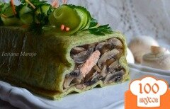 Фото рецепта: «Террин с грибами и кусочками семги»