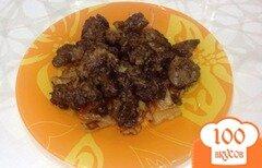 Фото рецепта: «Печень жареная с луком»