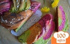 Фото рецепта: «Цветная булка с маком»