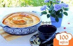 Фото рецепта: «Молдавская вертута с яблоками, орехами и корицей»