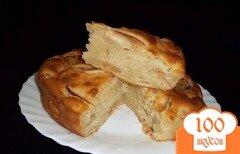 Фото рецепта: «Лимонный пирог с яблоками»