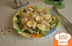 Фото рецепта: «Салат с палтусом»