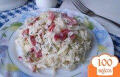 Фото рецепта: «Капустный салат с болгарским перцем и укропом»