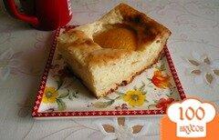 Фото рецепта: «Манник с персиками»