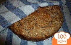 Фото рецепта: «Хлеб с овсяными хлопьями на скорую руку»