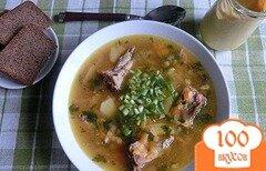 Фото рецепта: «Гороховый суп с копчеными ребрышками»