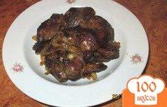 Фото рецепта: «Жареная куриная печень с луком»