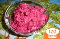"""Фото рецепта: «Картофельносвекольный салат """" Простота""""»"""