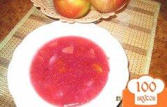 Фото рецепта: «Яблочно-малиновый кисель»