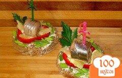 Фото рецепта: «Бутерброды с сельдью»