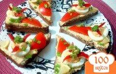 Фото рецепта: «Бутерброды с икрой мойвы»